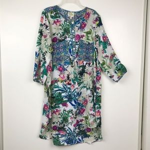Fig & Flower M Anthropologie Tunic Floral Paisley